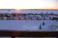 Вид с балкона - рассвет на Свияге